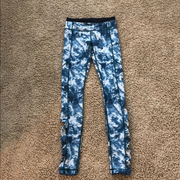 5ec7b51de6 lululemon athletica Pants | Lululemon Blue Tiedyed Leggings | Poshmark